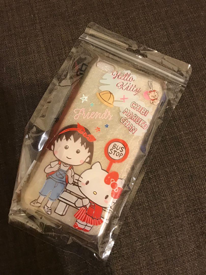Hello Kitty櫻桃小丸子聯名iPhone 7 Plus手機殼手機套保護殼保護套蘋果5.5吋