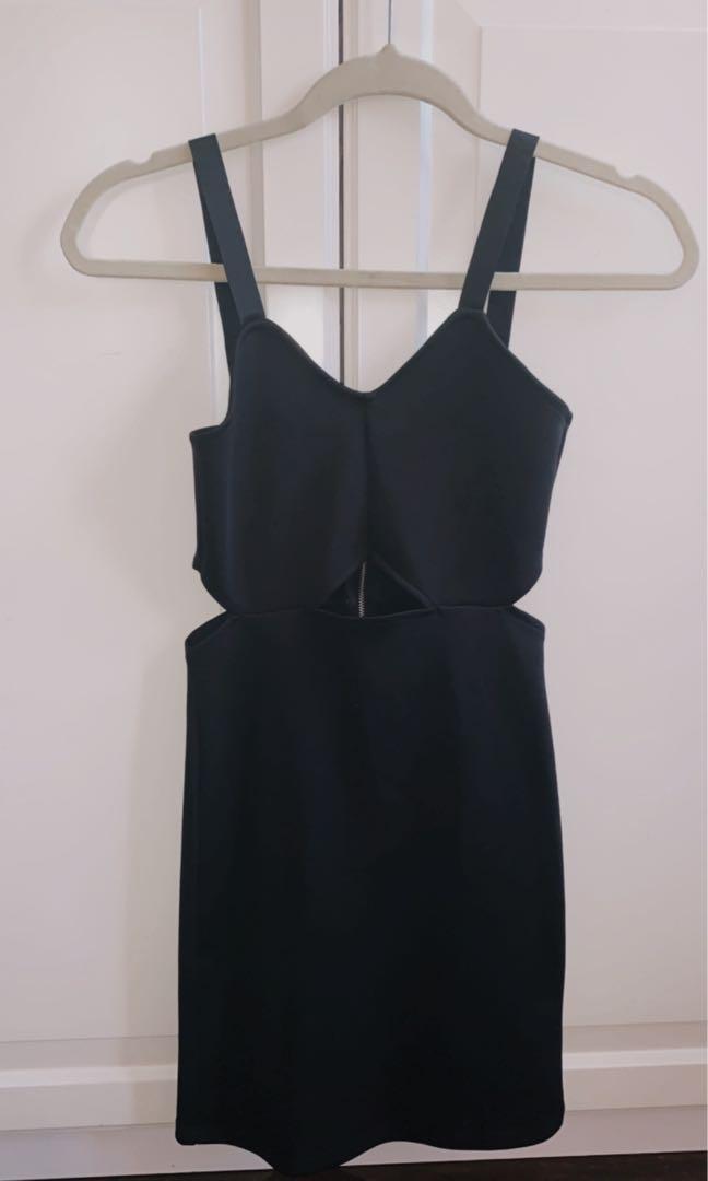 H&M mini black dress size S