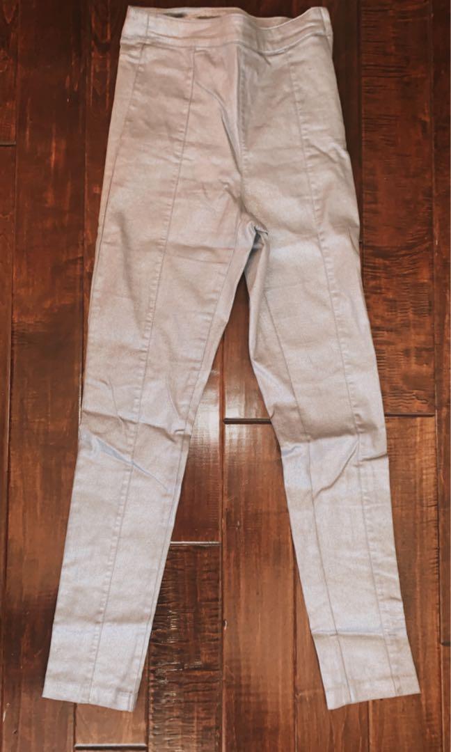 H&M silver dress pants in size 6