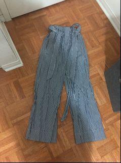 H&M Striped Wide Leg Pants