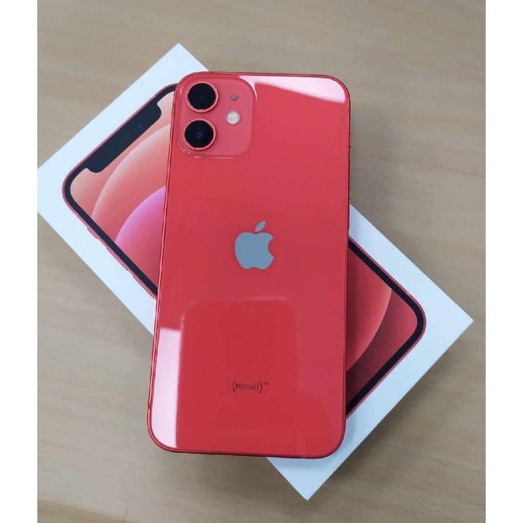 iPhone 12 mini 128gb 紅 極新! 台中面交佳