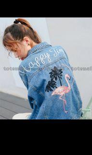 jaket jeans denim flaminggo