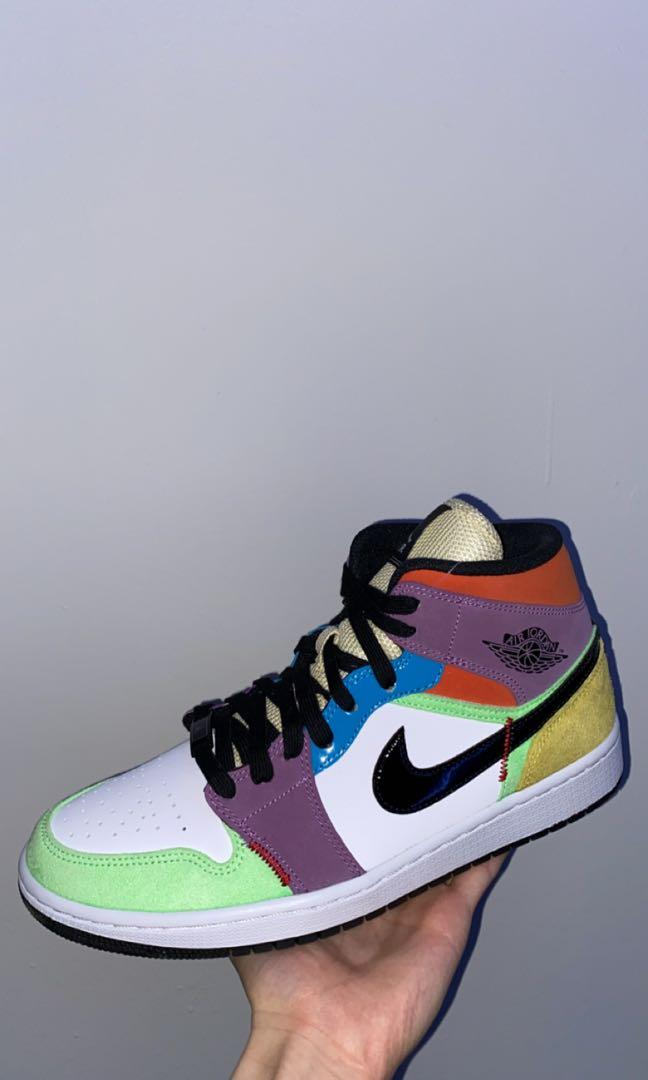 Jordan 1 mid multi colour