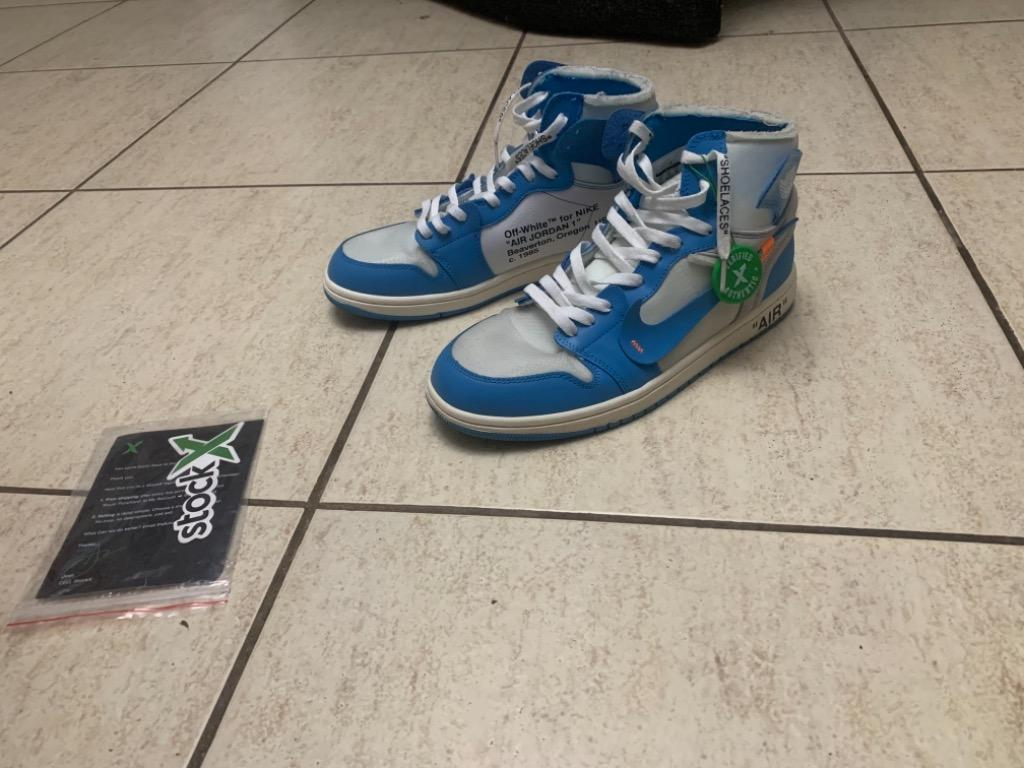 Jordan x off white nike jordan 1 unc. Trades and offers