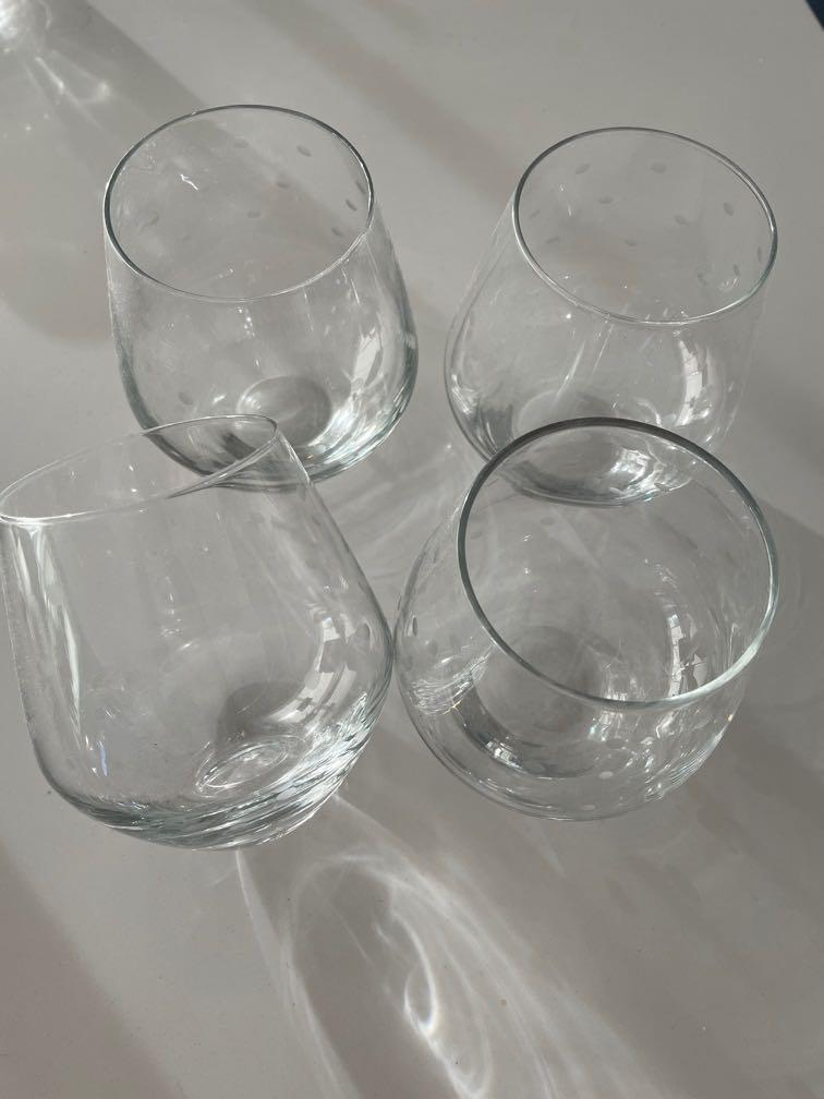 Kate Spade Polka Dot glasses - set of 4