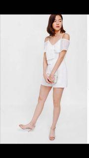 Love Bonito White Playsuit size XS