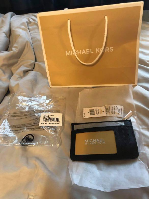 Michael kors jet set travel mini small coin pouch with ID