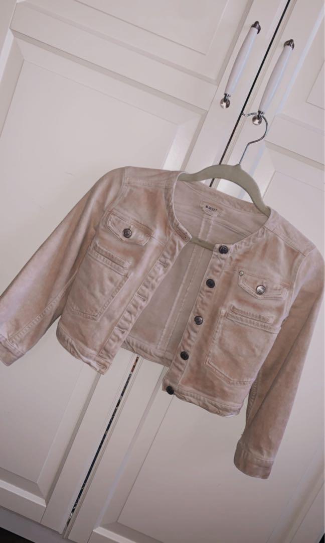 Mini beige jacket in size 2