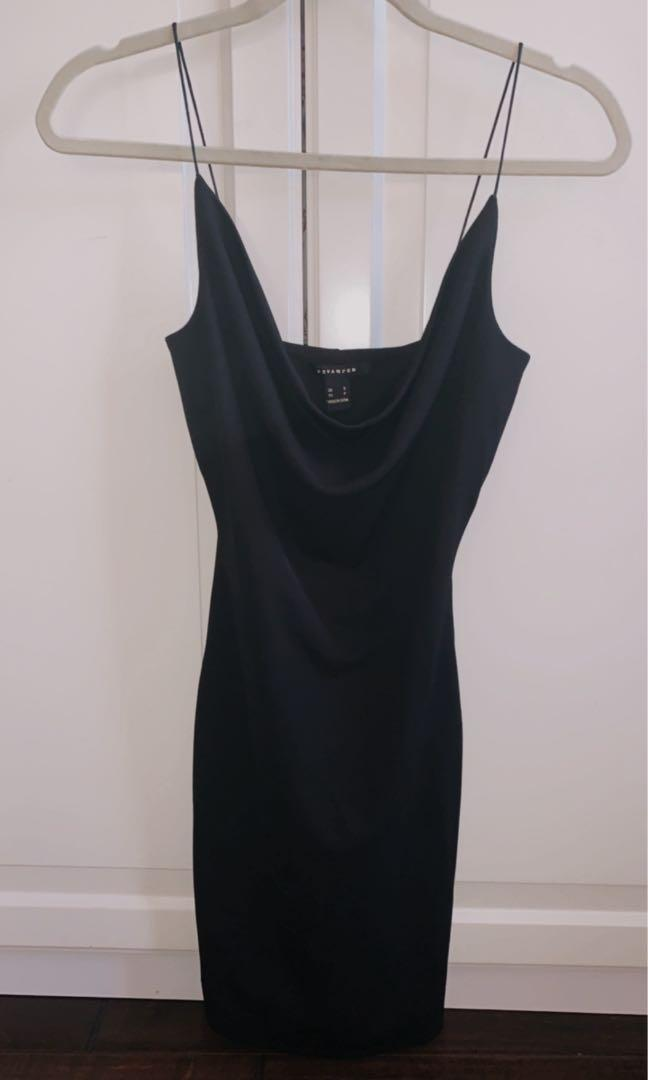 Mini black dress size S