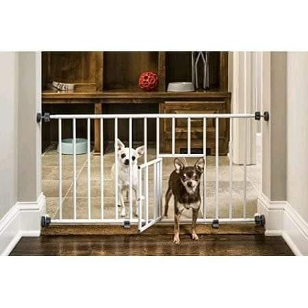 New Brand,Mini Gate Extra Wide, with Small Pet Door.
