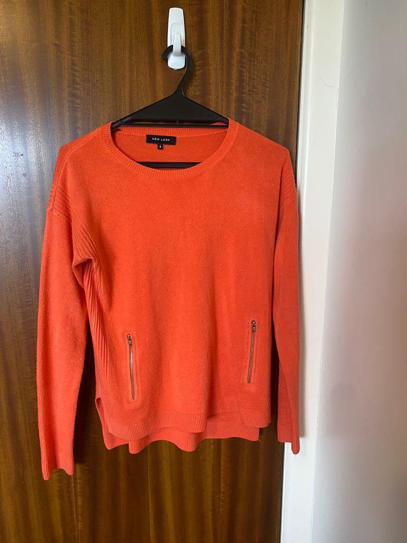 Orange Cashmere Jumper