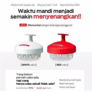 Preloved Grafen edge finger red shampoo brush