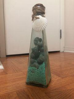 Seashell Glass Bottle