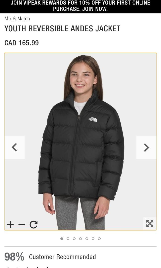 The North Face Youth Reversible Jacket - xs