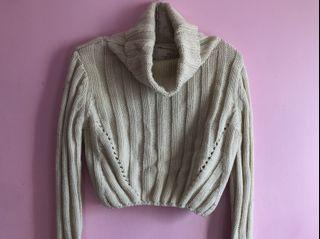 Turtle neck cropped sweater