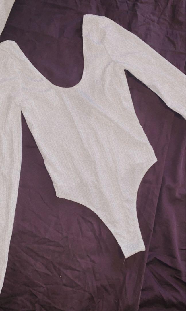 White bodysuit size S