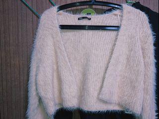 #降價 Zara 粉色短版毛外套