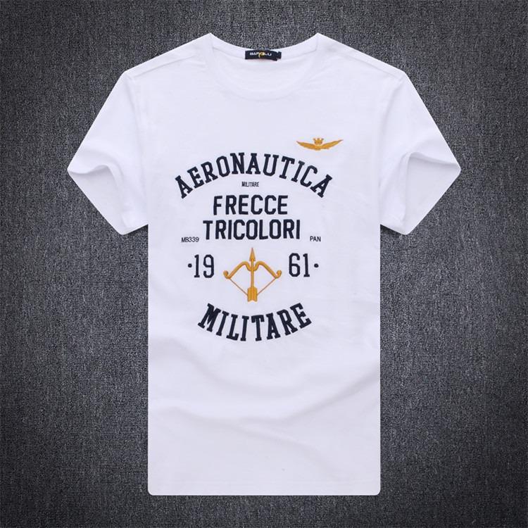 2020夏季新款空軍一號男士圓領短袖T恤純棉純色打底衫潮296647