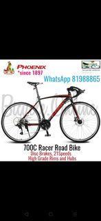 700C Racer Road Bike ✩ 21Speeds, Disc Brakes ✩ Brand New Bicycle