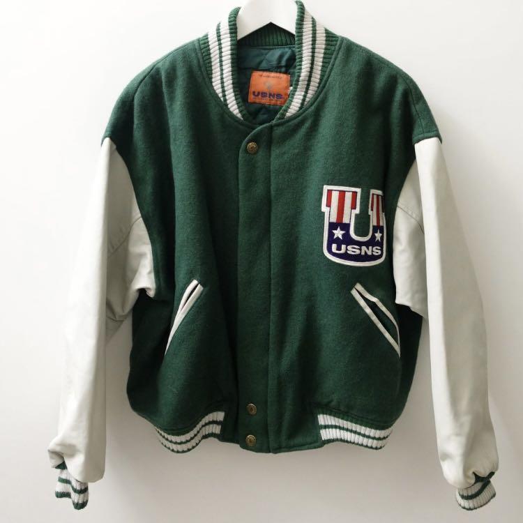 美國品牌 USNS 復古棒球外套 M號
