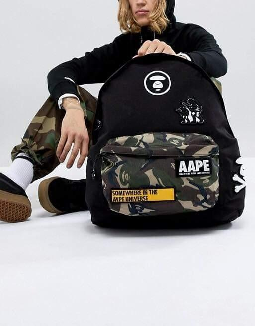 aape 迷彩後背包