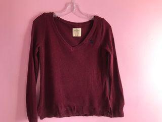 Abercrombie kids burgundy sweater