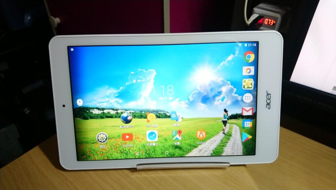 Acer Iconia One 8 B1-820,8吋 WIFI 平板,功能正常,最適合看影片、追劇、聽歌