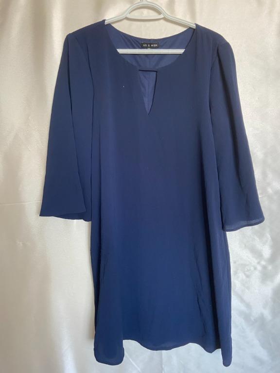 As U Wish - Blue Dress - Large