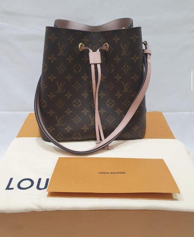 Authentic Louis Vuitton Full Set Neo Noe Poudre