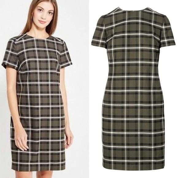 Banana Republic - Plaid Shift Dress - Large