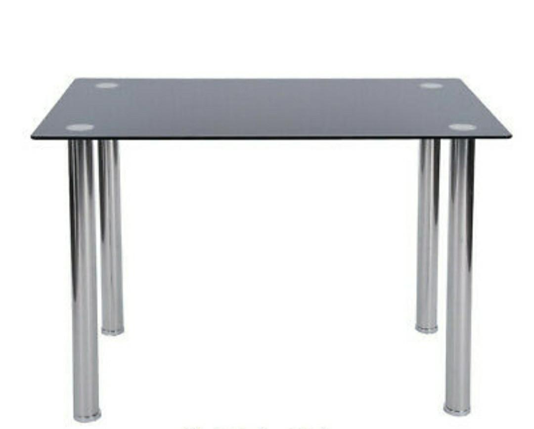 Brand new -  Chrome Glass DINING TABLE