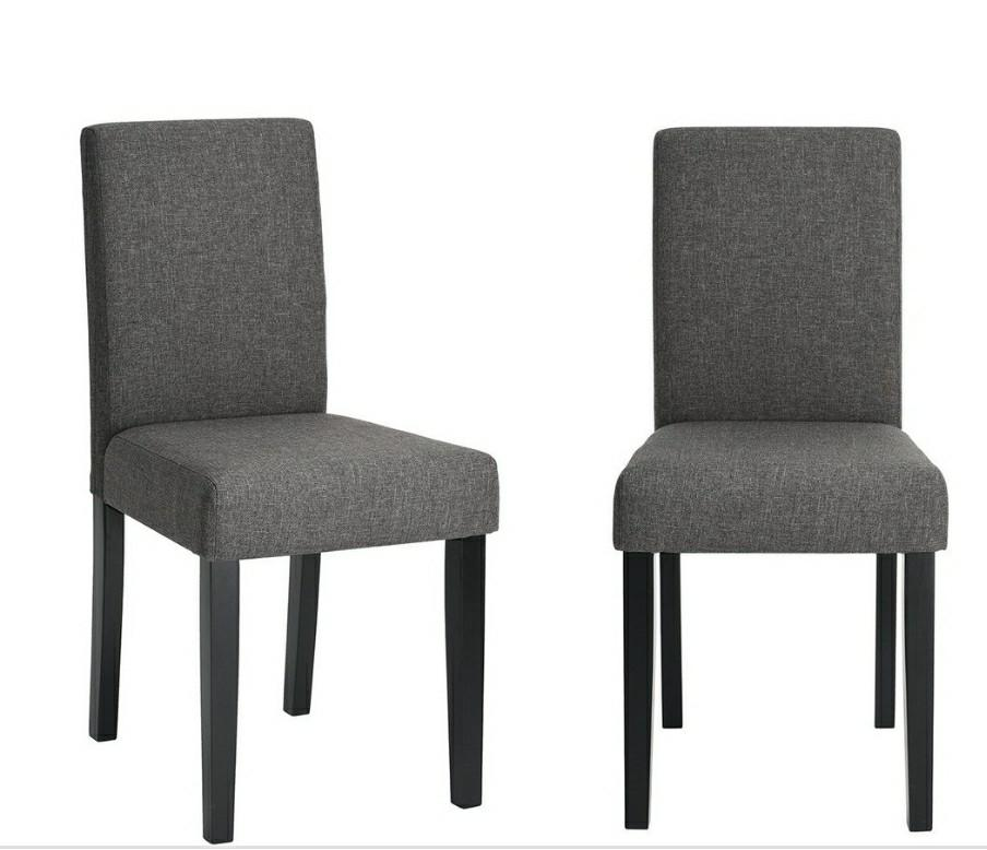 Brand new- (Set of 4) Modern DINING CHAIRS - Grey Fabric