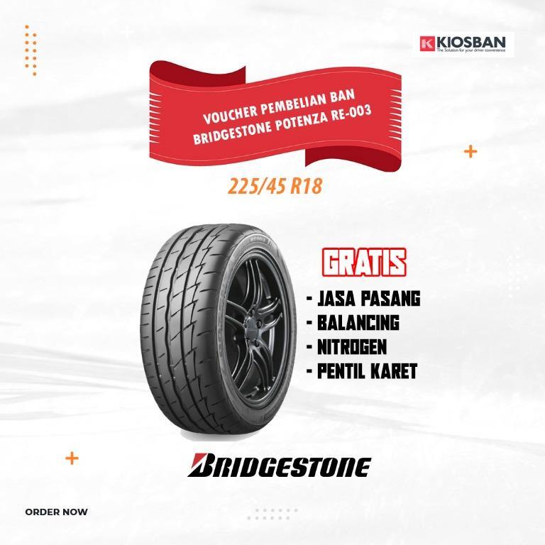 Bridgestone Potenza RE-003 Ukuran 225/45 R18 Ban Mobil