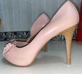Christian Siriano Pink Wood Heels