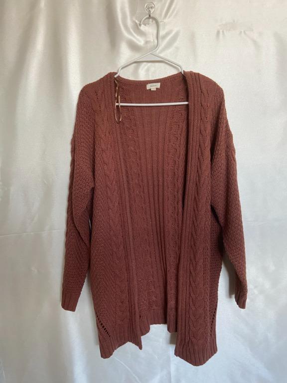 Debut - Terracotta Orange Knitted Cardigan