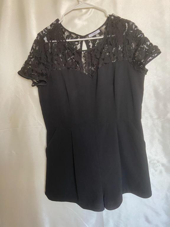 Dex - Black Lace Romper - XL