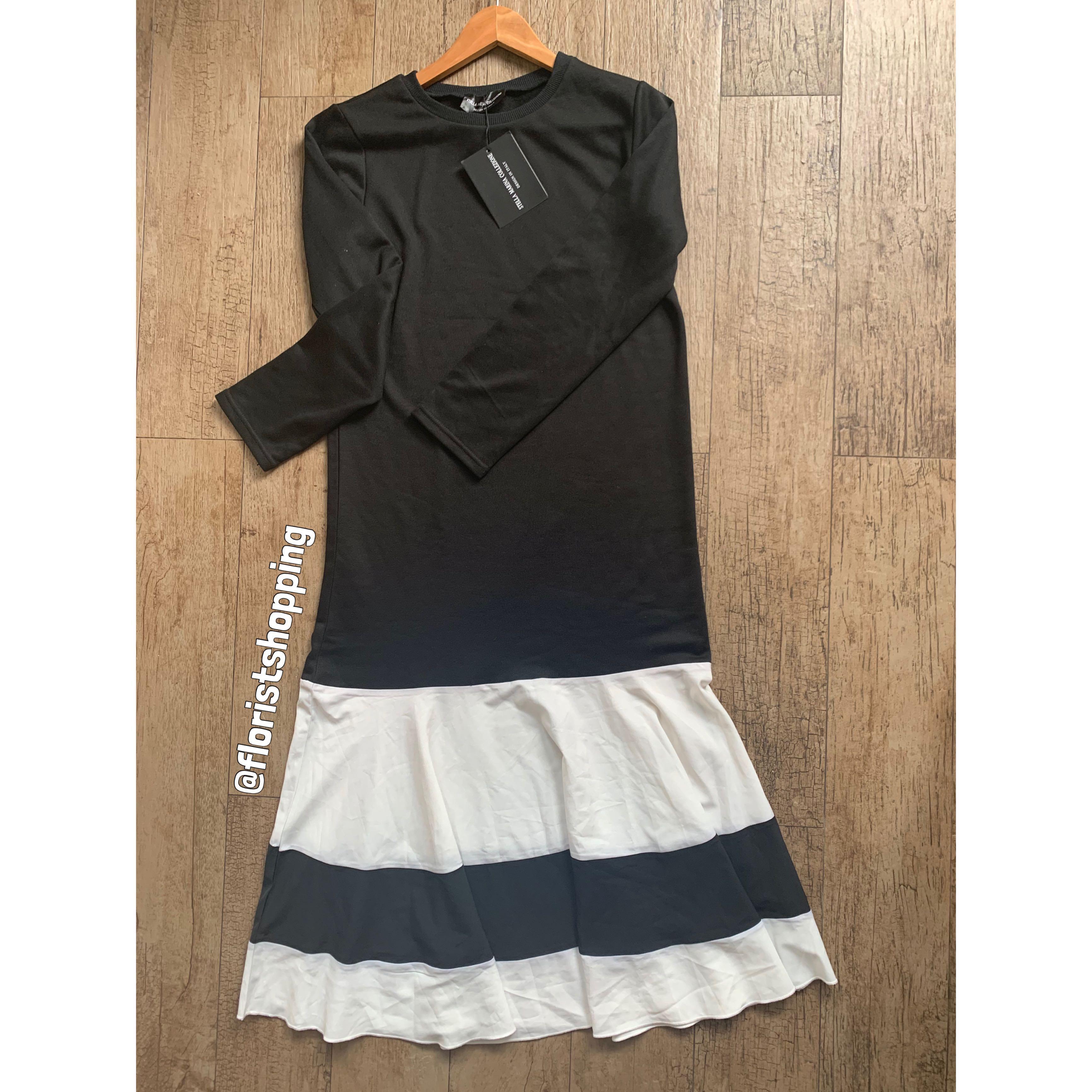 Dress Midi Hitam Putih