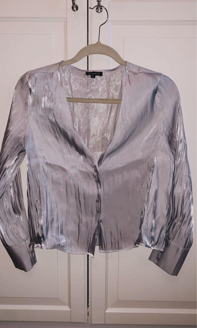 Dynamite silver shirt in size S