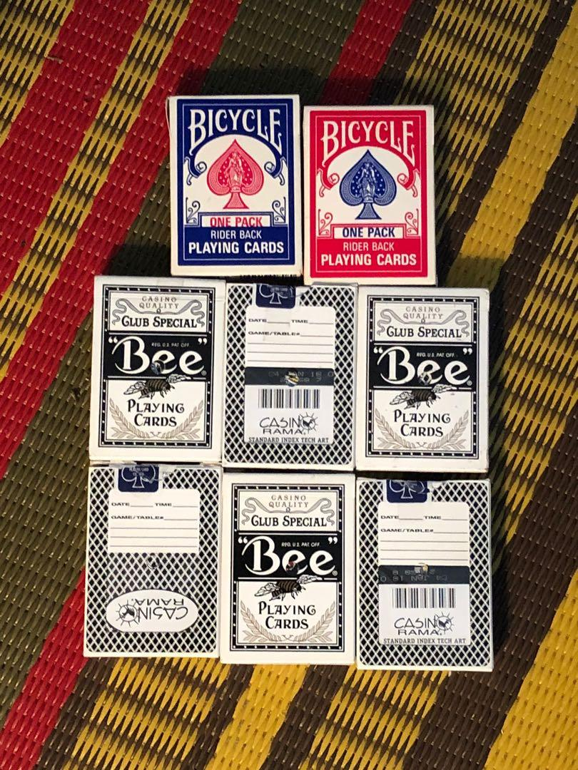 Eight decks of playing cards in like new condition