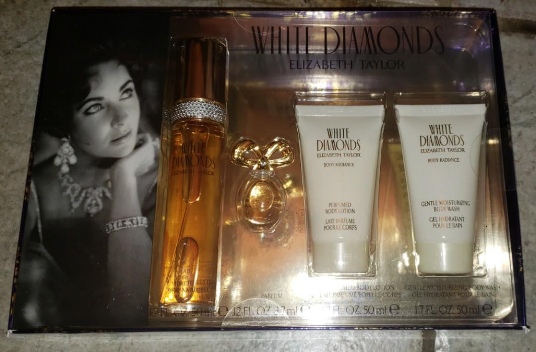Elizabeth Taylor -White Diamonds Perfume 4 piece set