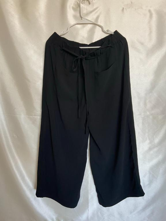 Frank & Oak - Wide Leg Pants - Large - Black