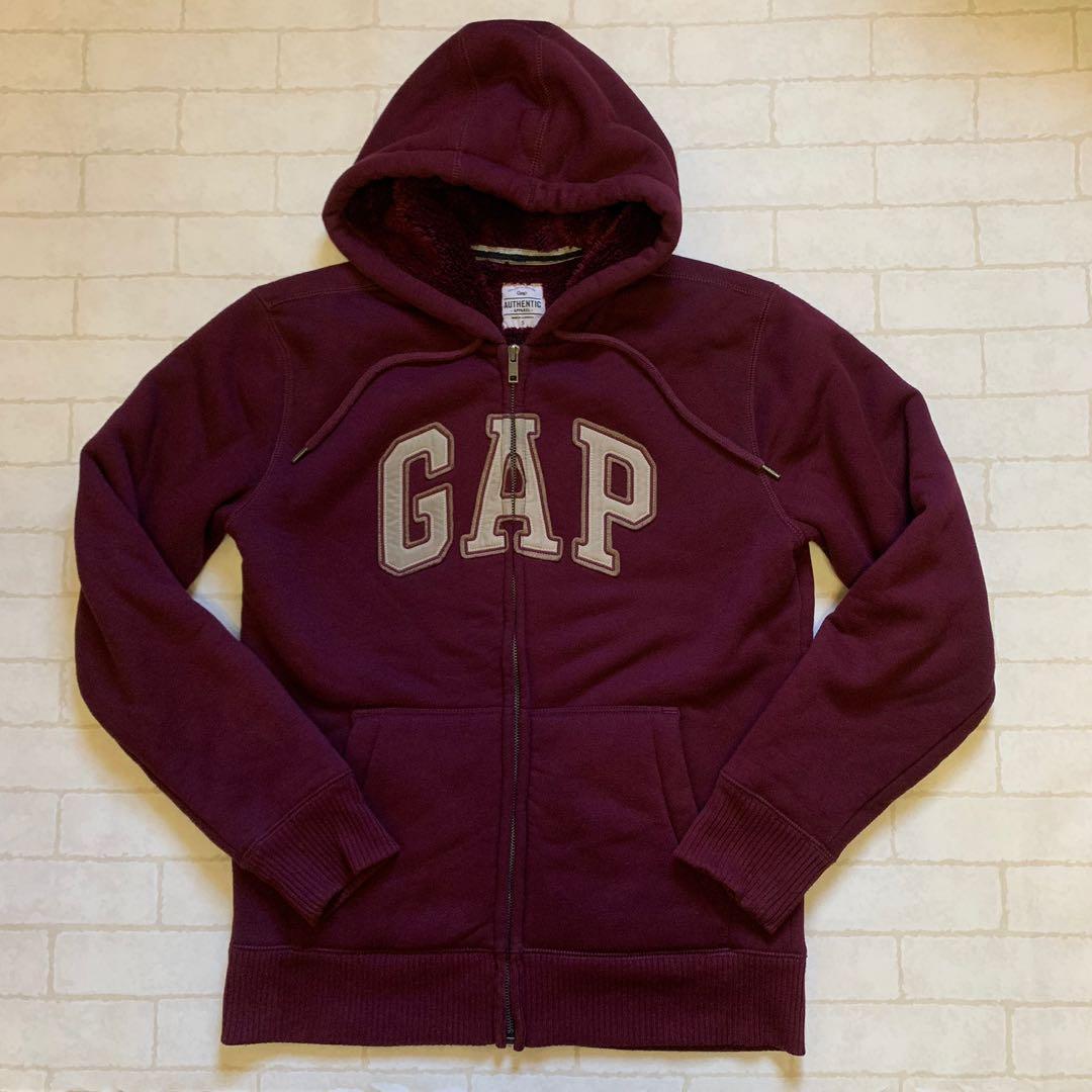 GAP外套 連帽外套 刷毛外套 保暖外套 S號 酒紅