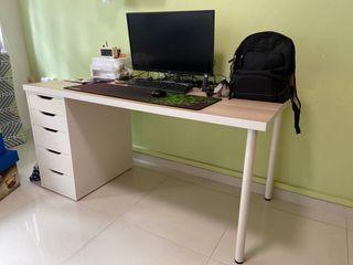 Ikea Linnmon Computer Desk with Pedestal Drawer