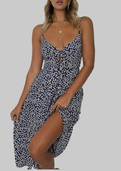Inibud Summer Dresses for Women AMAZON - Large in Blue