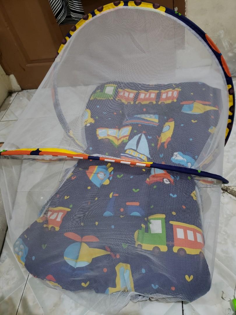 Kasur bayi kelambu,bantal dan 2 guling