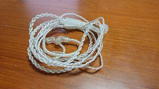 KZ 原廠鍍銀升級線, 0.75MM 插針, 功能正常