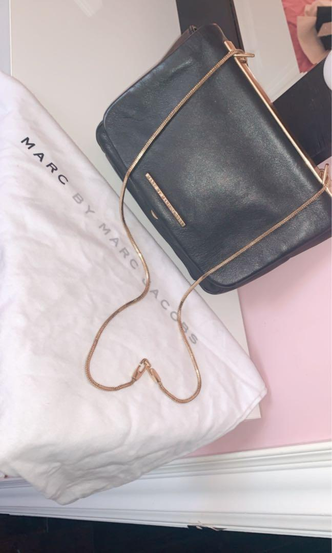 Marc by Marc Jacobs black real leather bag