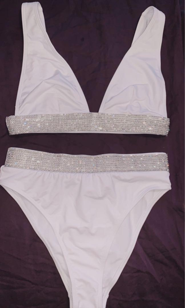 Missguided white bathing suit Size 6US