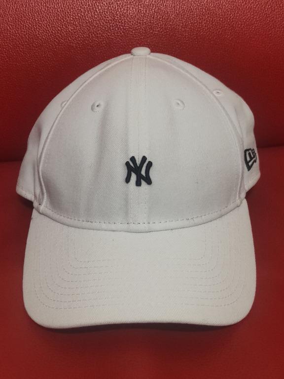 MLB 紐約洋基 棒球帽 白色 二手