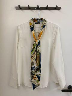 MOMA絲巾長袖襯衫